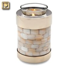 TEALIGHT Mother of Pearl  Candle  Keepsake Cremation Urn