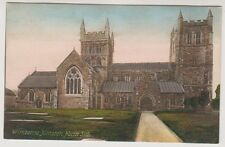 Dorset postcard - Wimborne Minster, North Side