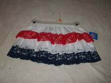 NEW FADED GLORY LACE TIER TUTU -SKIRT INFANT GIRLS 24M...PATRIOTIC