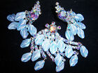 AMAZING VTG JULIANA AB RHINESTONE BEAD BROOCH PIN EARRING SET