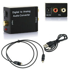 Coaxial Toslink Signal Digital Optical to Analog Audio Converter Adapter DAC RCA