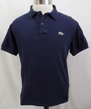Lacoste Dark Navy Blue Two Button Polo Shirt Men's 5  L Large