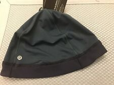 NWT LULULEMON Men's Out Run Beanie Hat One Size OS Blue Reflective $38