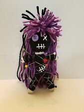 Authentic Voodoo doll real Multi Purple stitch 7 pins guide new orleans hoodoo