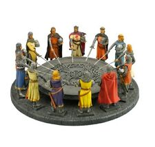 "11.5"" King Arthur & Knights of Round Table Statue Figurine Sculpture Medieval"