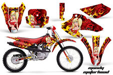 AMR Racing Honda XR 80/100 Graphic Decal Number Plate Kit Bike Stickers 01-03 MM