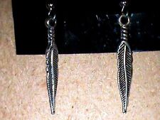 Native American Silver Eagle Feathers Earrings Powwow Regalia