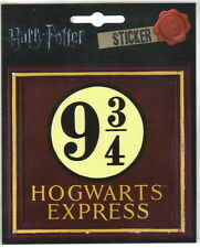 Harry Potter Hogwarts Express 9 3/4 Logo Image Peel Off Sticker Decal NEW UNUSED