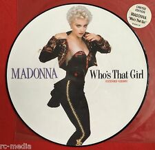 "MADONNA -Who's That Girl- Rare UK 12"" Picture Disc/Stickered Slv. (Vinyl Record)"