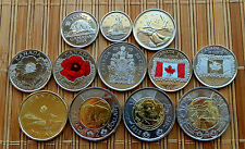 """2015 CANADA 12-coin Full Set with *RED POPPY*+""""FLAG"""" 25c + *REMEMBRANCE* 2$ -UNC"""