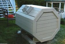 Plans How to Build Your Own Wood Octagon Garbage Trash Box Bin