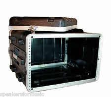 ABS 6U Space LIGHT WEIGHT Effects/Amp Rack Case Economical Durable/19 inch gear