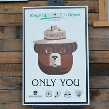 Smokey The Bear Forest Service Sign Keep Washington Green National Park Service