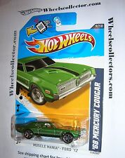 '68 Cougar * Kmart Days* 2012 Hot Wheels Kmart Only Green * W206