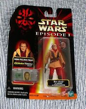 STAR WARS EPISODE 1, RIC OLIE W/ HELMET, BLASTER & COMM TECH CHIP. NIP. 1998.