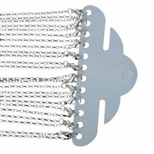 Rockin Beads 12 Pack Silver Plated Lobster Clasp Link Chain Necklaces 24 Inch