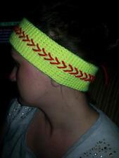Handmade Crochet Softball Headband youth size