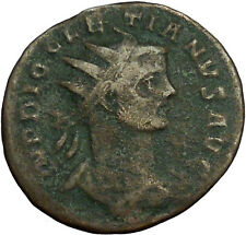 DIOCLETIAN 285AD Ancient Roman Coin Nude Jupiter w thunderbolt  i34710
