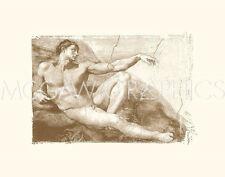 MICHELANGELO - CREATION OF ADAM (ADAM DETAIL)