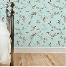 NEW IN! Duck Egg Birds Butterflies Luxury Wallpaper French Style Vintage Country