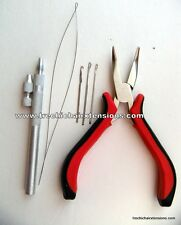 Hair Extension Pliers  Hook Needle And Threader Tool  Lot RBP