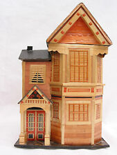 2373 Washington Pacific Heights Victorian House Replica Trinket box w note