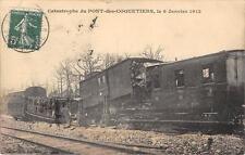 CPA 93 CATASTROPHE DU PONT DES COQUETIERS LE 6 JANVIER 1912 (accident de train G