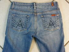 """7 FOR ALL MANKIND """"A"""" POCKET BOOT CUT WOMEN'S DENIM BLUE JEANS SIZE 26 INSEAM 30"""