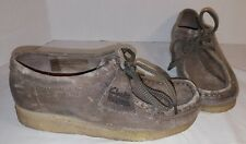 NEW CLARKS ORIGINALS TAUPE DISTRESSED SUEDE WALLABEE CREPE SOLES WOMEN'S US 6