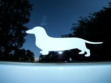 """Dachshund Decal For Windows/Bumpers, etc. 8"""" X 3""""  Color - White"""