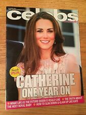 KATE MIDDLETON - CELEBS magazine CATHERINE ONE YEAR ON -UK RARE Duchess Cambridg