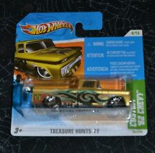 2011 HOT WHEELS CUSTOM '62 CHEVY 4/15 TREASURE HUNTS '11 ON SHORT CARD VHTF