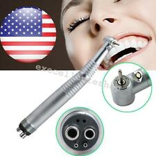 High Speed LED dental Handpiece Standard head Push 3 way 4 holes wrench chuck CE