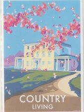 Country Living New Home Devon Art Deco Railway Poster 1930s style Birthday Card