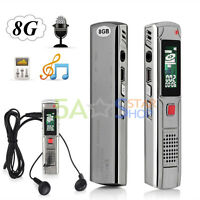 Digital 8GB High Speed Steel Voice Sound Recorder Dictaphone MP3 Player USB disk