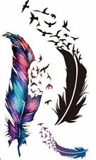 SHEET OF TEMPORARY FEATHER AND BIRD TATTOOS (BRAND NEW) 110mm X 60mm