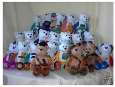 """Stuffed 9"""" Collectible State quarter coin bears #1 - #50 + 5 extra teddy bears"""