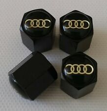 AUDI Wheel Valve Dust caps BLACK ALL COLOURS ALL MODELS S LINE RS TT RS6 RS5 RS4