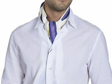 Gucci Men's Silk Scarf GB817 54x7 Beige Purple
