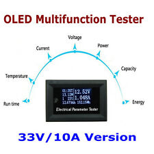 100v/10A OLED Tester Voltage Current Time Temperature Capacity Voltmeter Ammeter