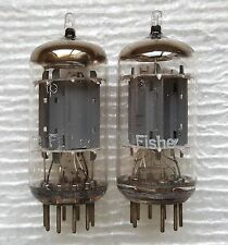 2 Fisher Telefunken 12ax7 / ECC83 Vacuum Tubes :    Bottom / Smooth Long Plates