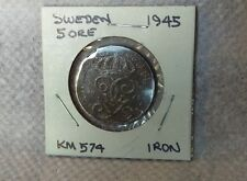 New listing Sweden 1945, 5 Ore