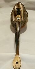 "Antique 14""  Brass/ Copper Art Deco  Door Handle with Thumb Latch "" Pat Pending"""