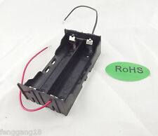 1pcs Hold 2 Li-ion 18650 Battery Holder 3.7V Parallel Case With 2 Wire Leads