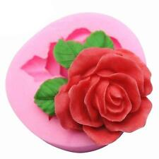 Big Rose Flower Cake Mold Soap Silicone Mold Flexible Chocolate Candy Mold DIY#A