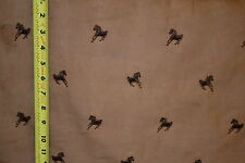 """Horses Embroidered Corduroy 21 Wale 100% Cotton 56"""" Wide Fabric by Yard"""