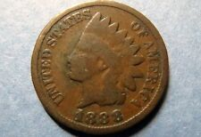 Antique 1888  INDIAN HEAD BRONZE CENT Circulated Philadelphia Mint Nice Details