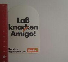 Aufkleber/Sticker: Knackis Würstchen von Herta laß knacken Amigo (021116132)