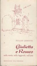 Giulietta e Romeo nella storia nella leggenda e nell'arte. Disegni di Fausto Tom