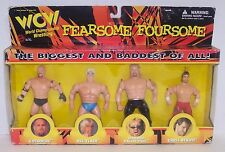 '98 WCW Fearsome Foursome Goldberg-Flair-DDP-Benoit Action Figure Set WWF [450]